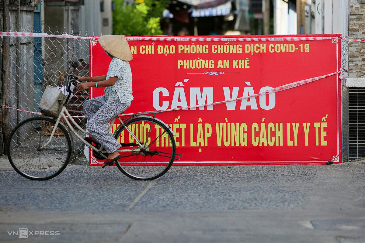 Đà Nẵng tiếp tục siết chặt các quy định phòng chống dịch. Ảnh: Nguyễn Đông.