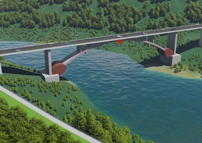 Phương án kiến trúc một cây cầu trên tuyến cao tốc Đồng Đăng - Trà Lĩnh A. Ảnh: A2Z
