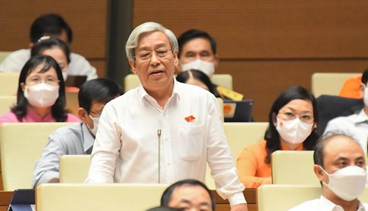 Đại biểu Lê Xuân Thân (Phó Chủ tịch Hội đồng nhân dân tỉnh Khánh Hòa). Ảnh: Trung tâm báo chí Quốc hội