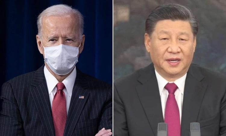 Tổng thống Mỹ Joe Biden (trái) và Chủ tịch Trung Quốc Tập Cận Bình. Ảnh: NYPost.