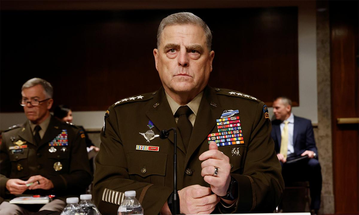 Đại tướng Mark Milley trong phiên điều trần với Ủy ban Quân vụ Thượng viện Mỹ ngày 10/6. Ảnh: Reuters.