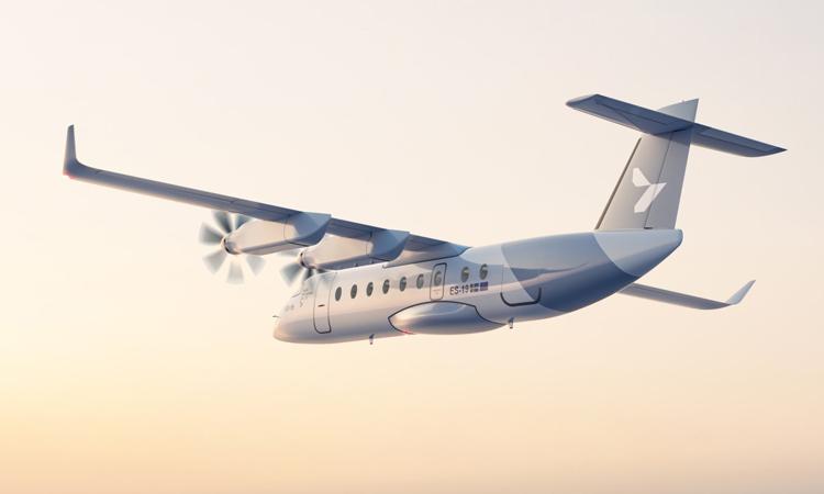 Thiết kế máy bay điện 19 chỗ ngồi ES-19. Ảnh: Heart Aerospace.
