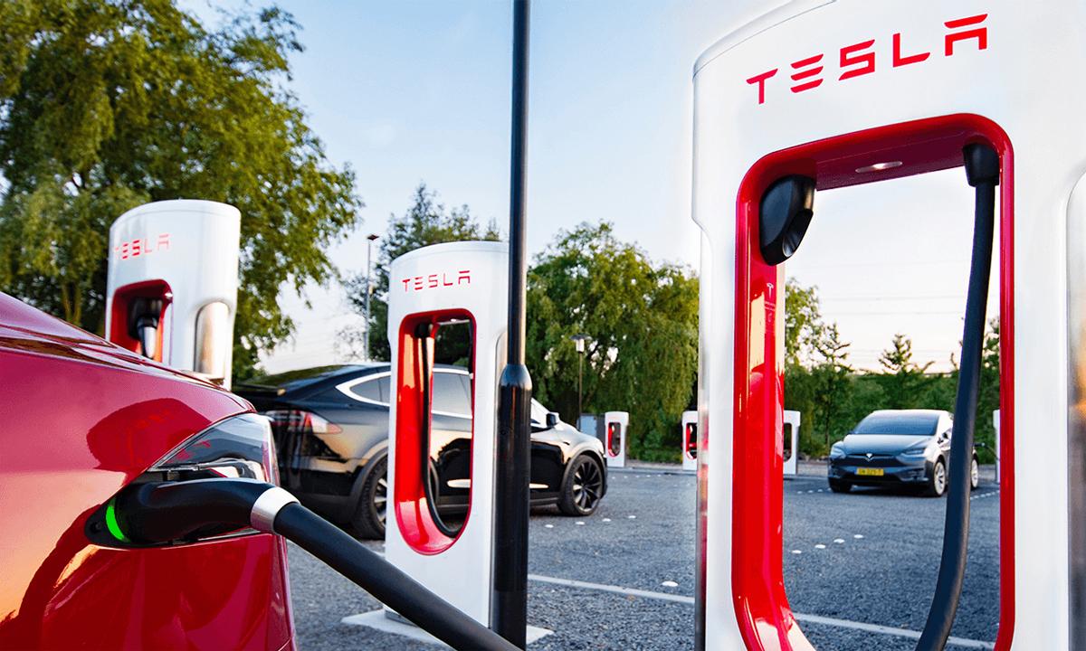 Các trạm sạc Supercharger vốn chỉ dành riêng cho xe Tesla. Ảnh: Tesla