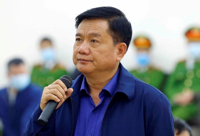 Ông Đinh La Thăng tại phiên toà sơ thẩm. Ảnh: TTXVN.