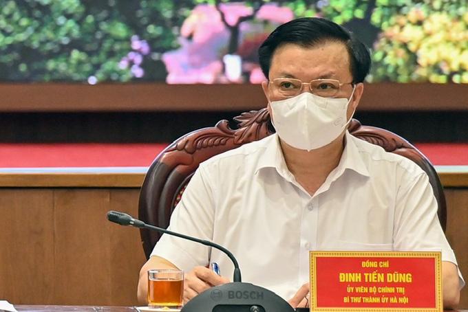 Bí thư Thành ủy Hà Nội Đinh Tiến Dũng. Ảnh: Viết Thành.