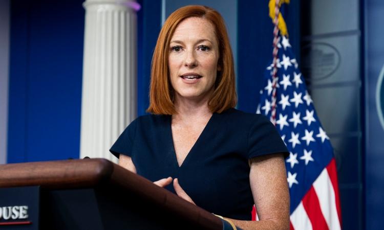 Thư ký Báo chí Nhà Trắng Jen Psaki trong cuộc họp báo ở Washington hôm 22/7. Ảnh: Reuters.