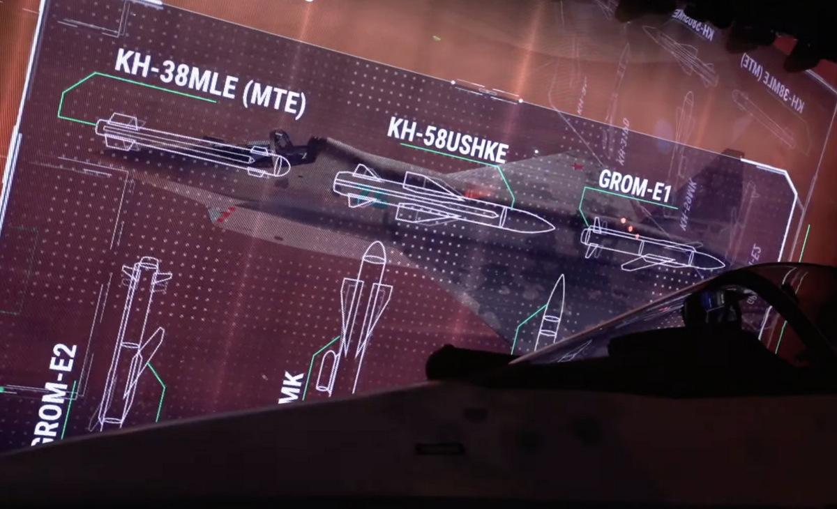 Các vũ khí đối đất có thể trang bị trên tiêm kích Checkmate. Ảnh: Rostec.