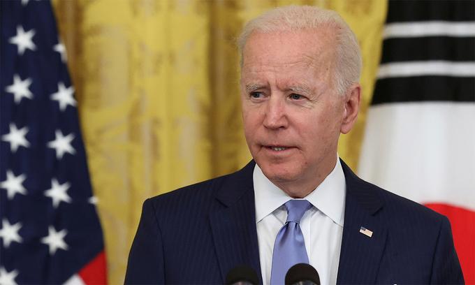 Tổng thống Mỹ Joe Biden tại Nhà Trắng ngày 21/5. Ảnh: Reuters.