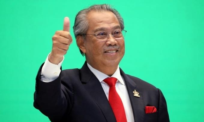 Thủ tướng Muhyiddin Yassin dự hội nghị trực tuyến của các nhà lãnh đạo APEC 2020 tại Kuala Lumpur, Malaysia, hồi tháng 11/2020. Ảnh: Reuters.