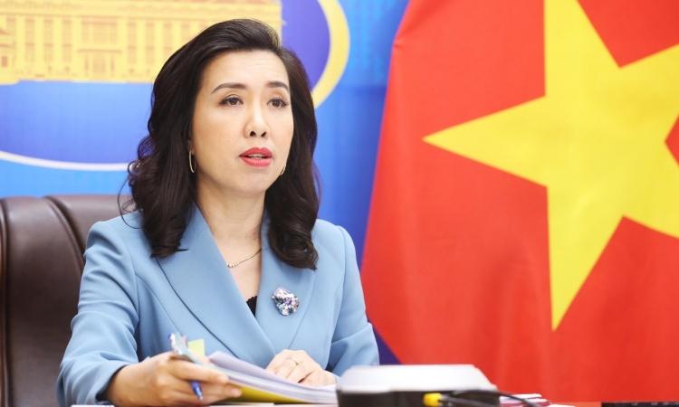 Phát ngôn viên Bộ Ngoại giao Lê Thị Thu Hằng. Ảnh: BNG.