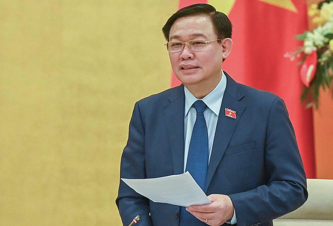 Chủ tịch Quốc hội Vương Đình Huệ. Ảnh: Giang Huy