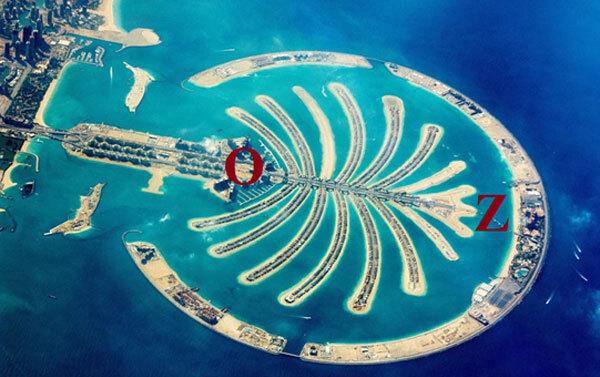 Đảo cọ ở Dubai. Ảnh: Pinterest