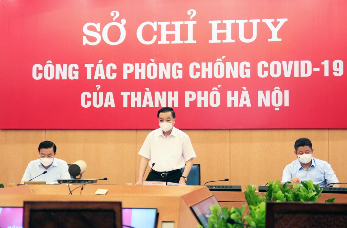Ông Chu Ngọc Anh phát biểu chỉ đạo tại cuộc họp trực tuyến chiều 24/7. Ảnh: Phú Khánh.