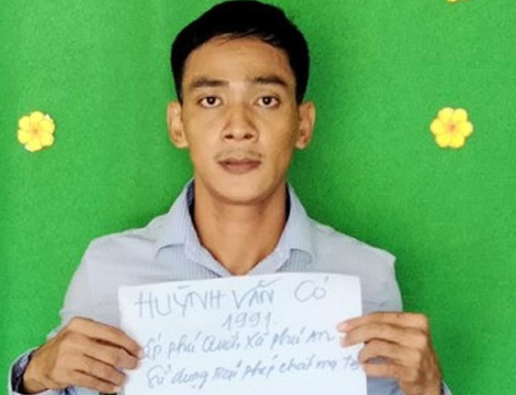 Huỳnh Văn Có tại cơ quan công an. Ảnh: An Phú