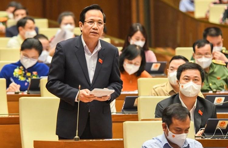 Bộ trưởng Lao động Thương binh và Xã hội Đào Ngọc Dung. Ảnh: Giang Huy