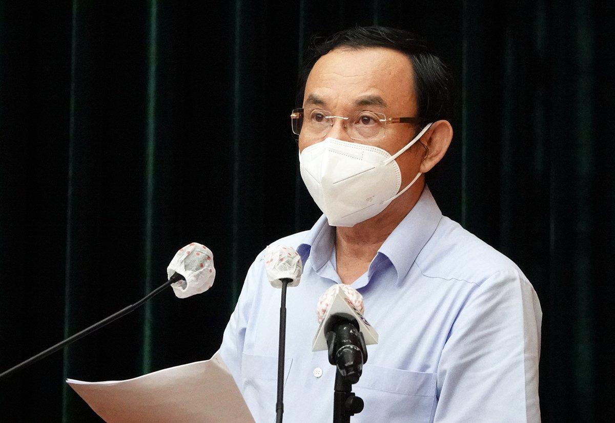 Bí thư Thành uỷ Nguyễn Văn Nên kết luận tại hội nghị. Ảnh: Mạnh Tùng.