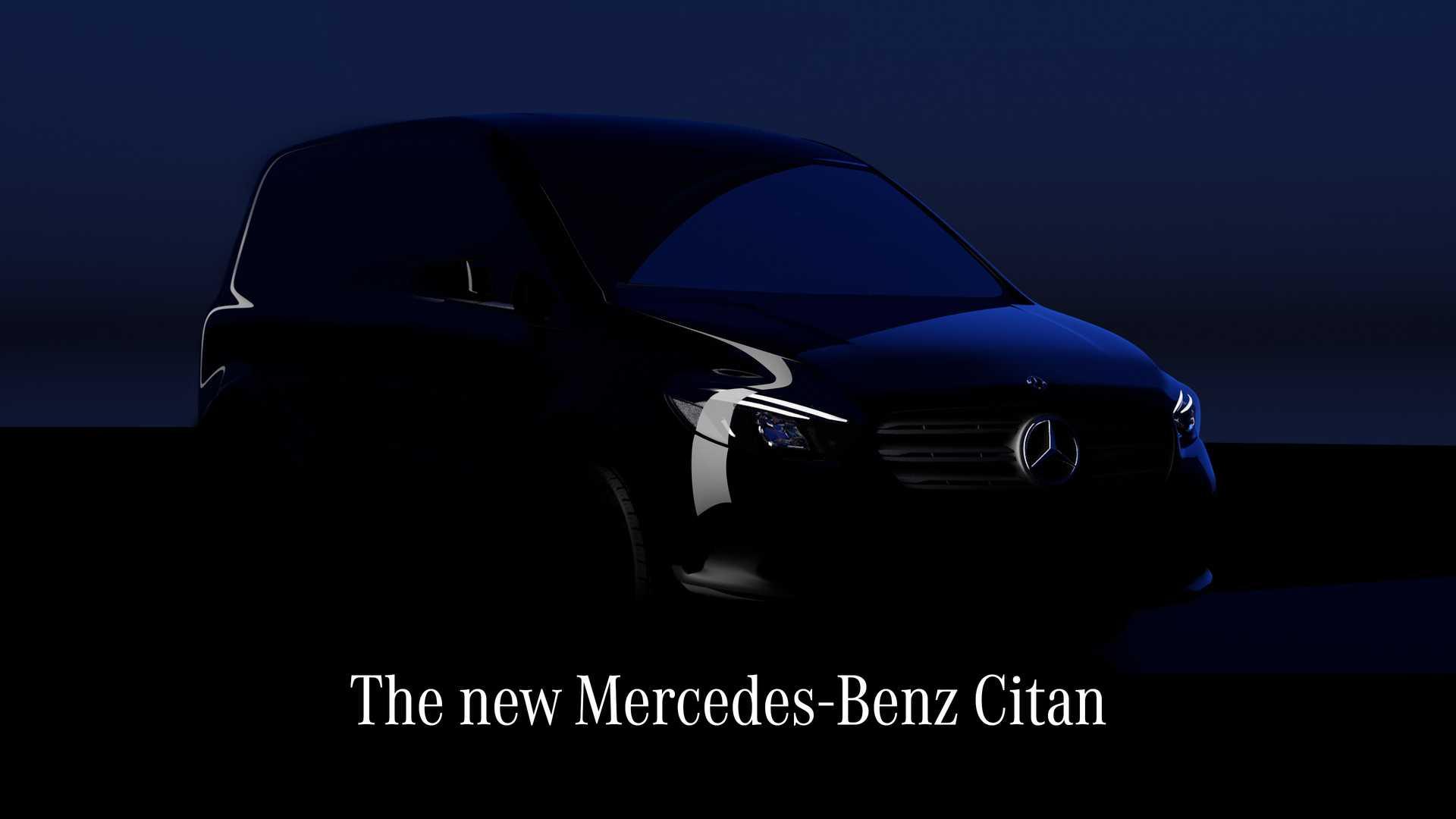 Hình ảnh ngoại thất của mẫu Citan sắp ra mắt. Ảnh: Mercedes