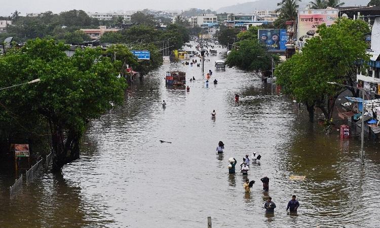 Biến đổi khí hậu khiến làm tăng số lượng bão và mưa lũ ở Ấn Độ. Ảnh: Phys.org.