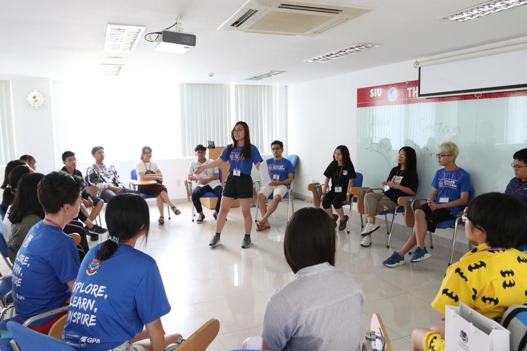 Chương trình giao lưu giữa sinh viên SIU và Harvard trong trại hè HVIET 2019. Trại hè do sinh viên Harvard tổ chức tại Việt Nam với sự đồng hành của SIU.