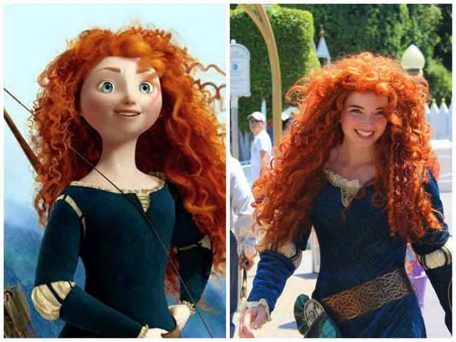 Merida trong bộ phim Công chúa tóc xù.