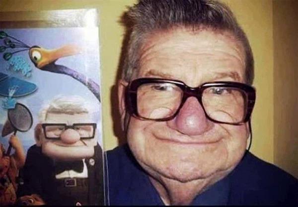 Ông lão không hề khác nhân vật chính trong phim hoạt hình Up.