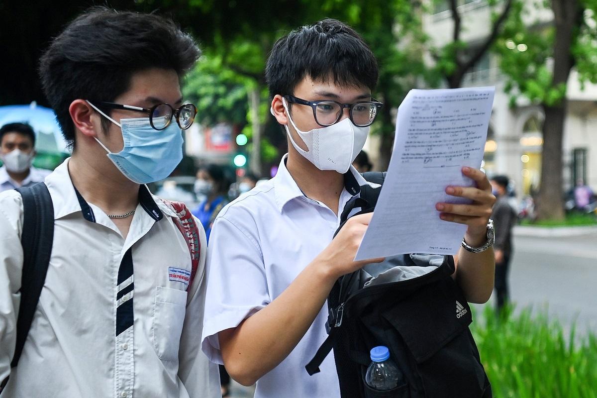 Thí sinh dự thi tốt nghiệp THPT đợt 1 ở Hà Nội. Ảnh: Giang Huy