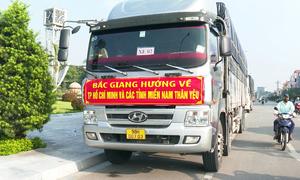 200 tấn hàng từ Bắc Giang gửi đến tâm dịch phía Nam