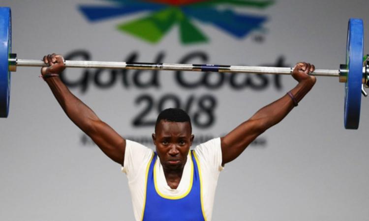 Vận động viên Julius Ssekitoleko khi thi đấu tại Thế vận hội Khối thịnh vượng chung 2018. Ảnh: AFP.
