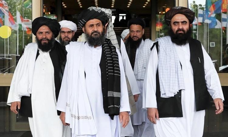Phái đoàn Taliban tới thăm Bắc Kinh, Trung Quốc, hồi năm 2019. Ảnh: Reuters.