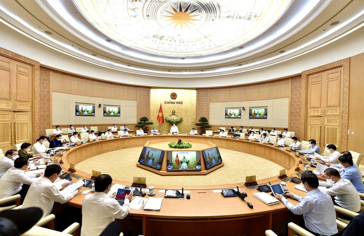 Toàn cảnh phiên họp Chính phủ dưới sự chủ trì của Thủ tướng Phạm Minh Chính. Ảnh: Nhật Bắc