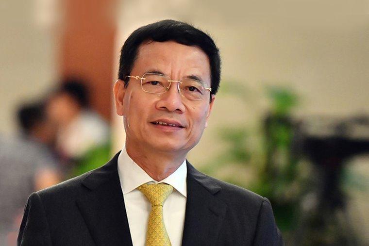 Bộ trưởng Thông tin & Truyền thông Nguyễn Mạnh Hùng. Ảnh: Giang Huy