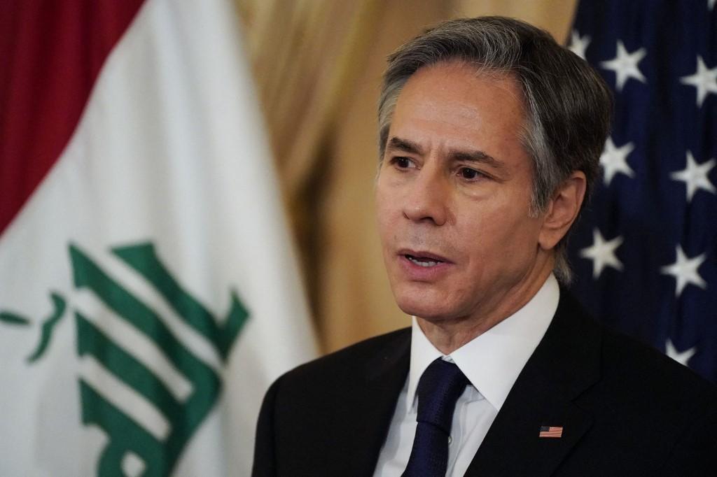 Ngoại trưởng Mỹ Antony Blinken trong cuộc họp báo ở trụ sở Bộ Ngoại giao Mỹ tại thủ đô Washington ngày 23/7. Ảnh: AFP.