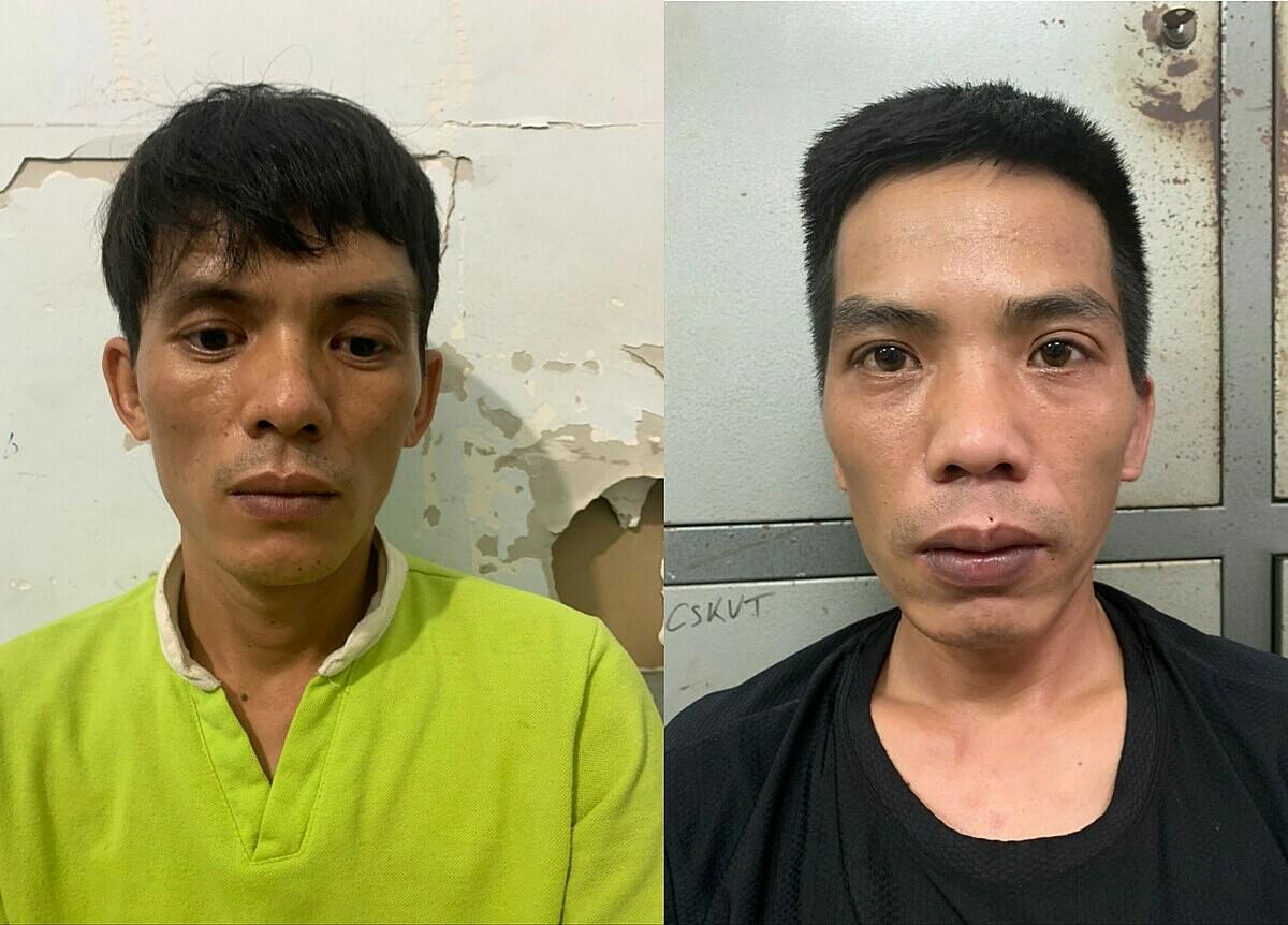 Lê Văn Cường (trái) và Nguyễn Văn Thìn. Ảnh: Công an cung cấp