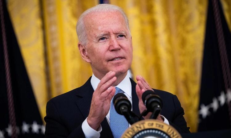 Tổng thống Mỹ Joe Biden phát biểu tại Phòng Đông, Nhà Trắng, hôm 29/7. Ảnh: NYTimes.