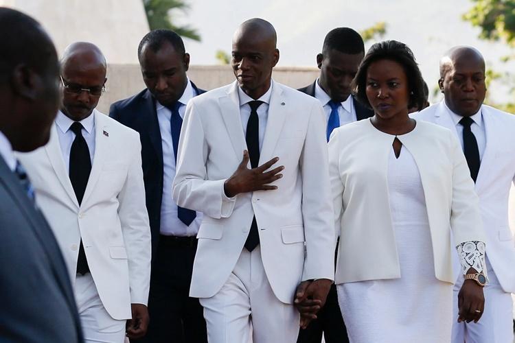 Tổng thống Haiti Jovenel Moise và Đệ nhất phu nhân Martine hồi năm 2019. Ảnh: AP.