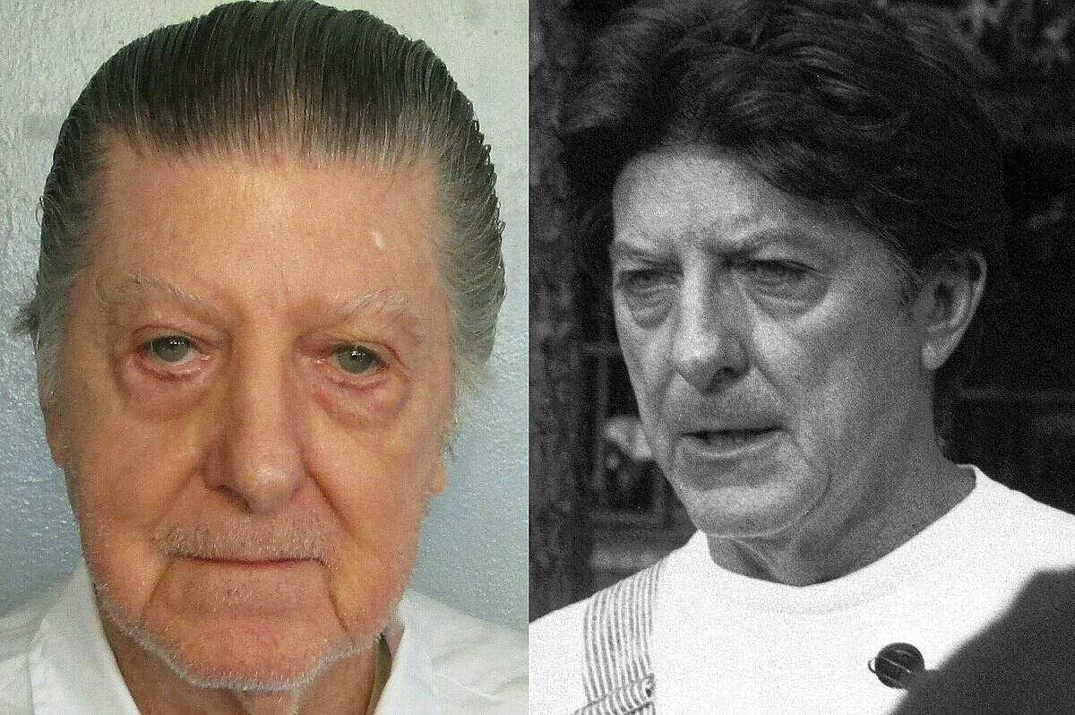 Walter Leroy Moody trong những ngày cuối đời (trái) và vào tháng 2/1990. Ảnh: Alabama Department of Corrections và AP