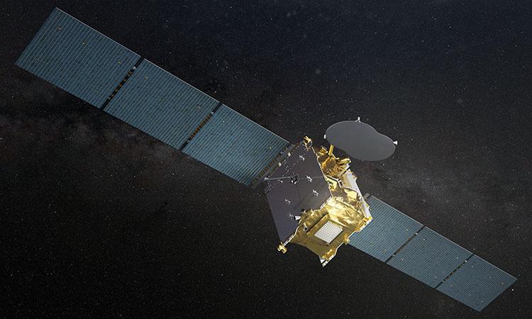 Mô phỏng vệ tinh Eutelsat Quantum. Ảnh: ESA.