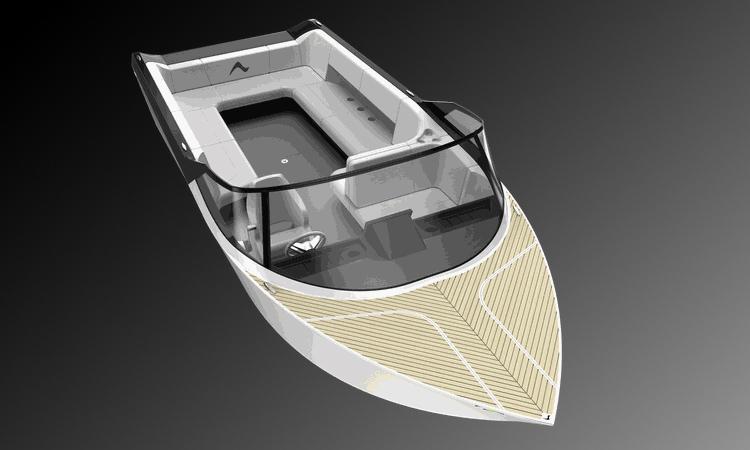 Thiết kế của thuyền điện Arc One. Ảnh: Arc Boat.