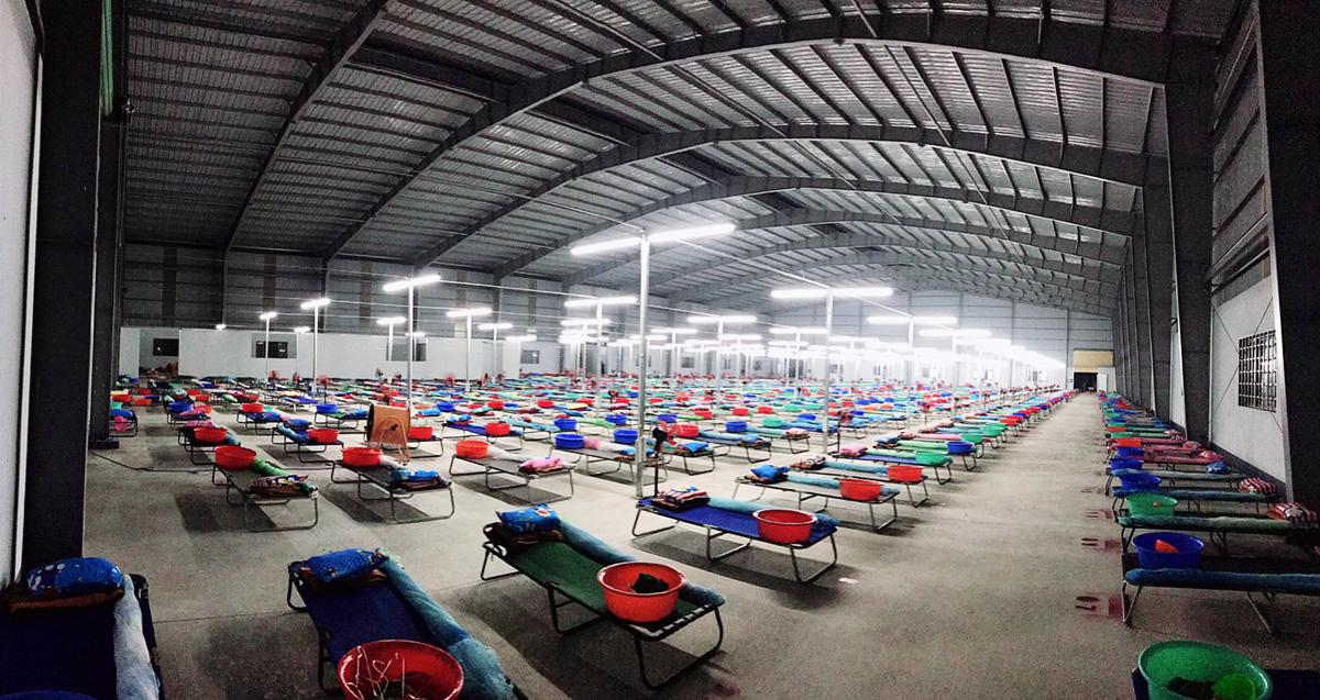 Bệnh viện số 20 là bệnh viện dã chiến lớn nhất tỉnh với quy mô 1.500 giường. Ảnh: Thảo Nguyên