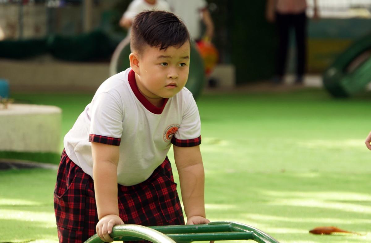 Trẻ mầm non ở quận Gò Vấp trong giờ vui chơi. Ảnh: Mạnh Tùng.