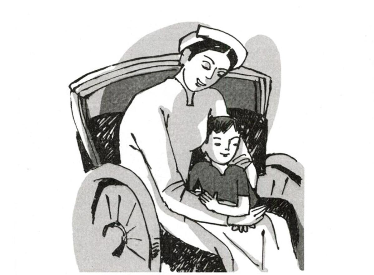 Tranh minh hoạ một trích đoạn trong hồi ký Những ngày thơ ấu trong sách giáo khoa Ngữ văn lớp 8.