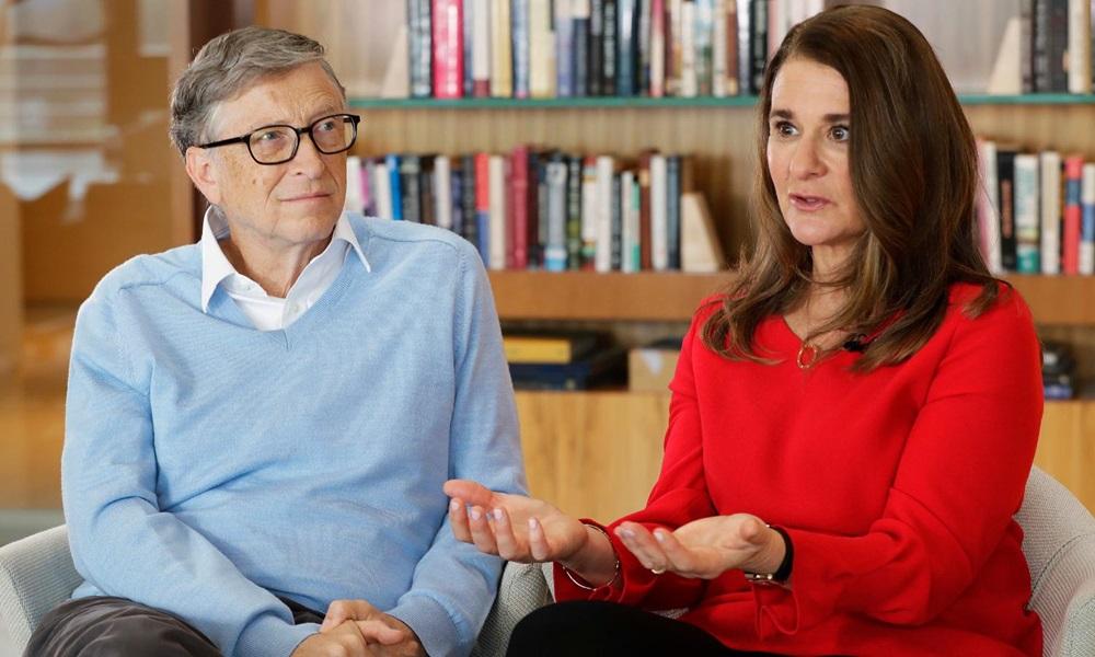 Tỷ phú Bill Gates và vợ cũ Melinda French Gates. Ảnh: AP.