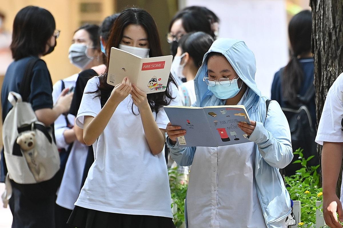 Thí sinh dự thi tốt nghiệp THPT 2021 đợt 1 ở Hà Nội. Ảnh: Giang Huy