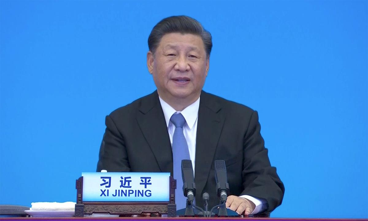 Chủ tịch Trung Quốc Tập Cận Bình trong cuộc họp trực tuyến lãnh đạo APEC ngày 6/7. Ảnh:Reuters.