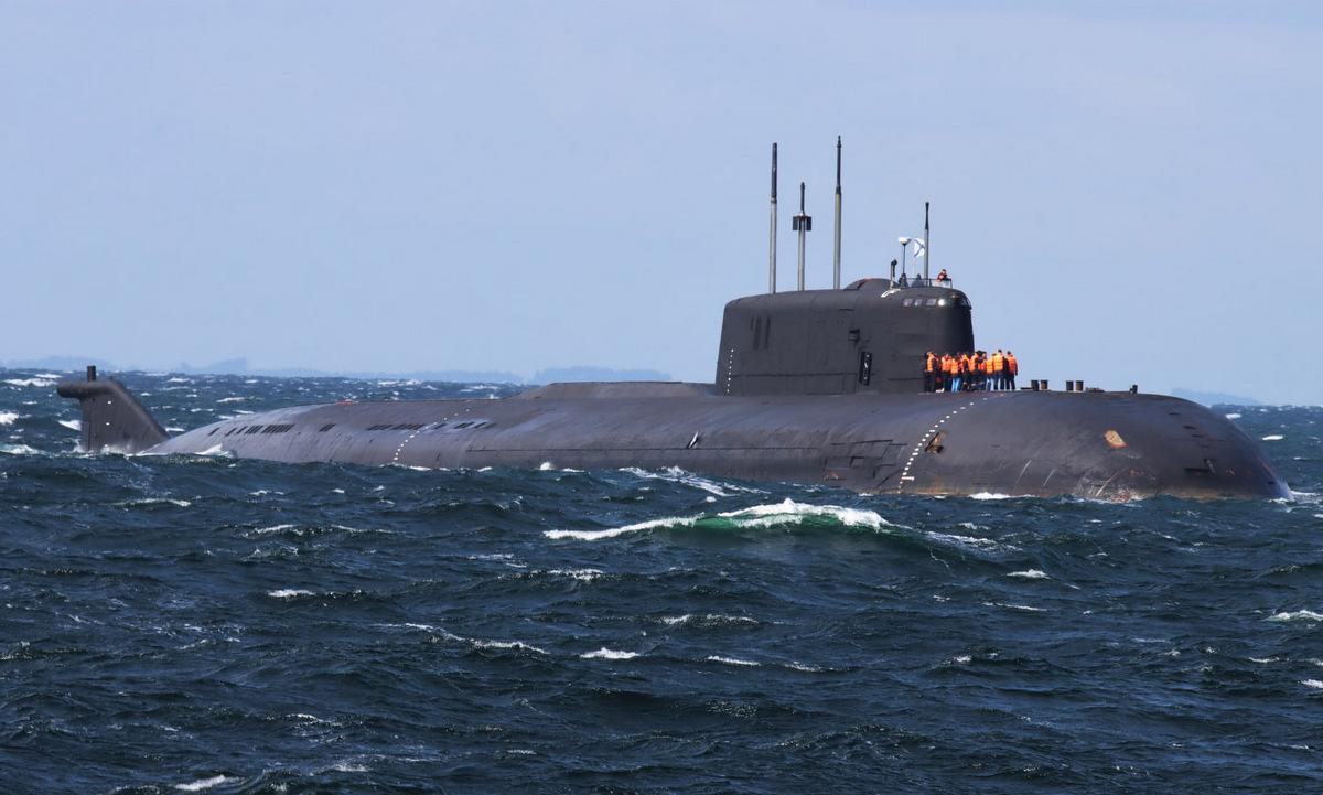 Tàu ngầm Orel gặp sự cố hôm 30/7. Ảnh: Facebook/3. Eskadre.
