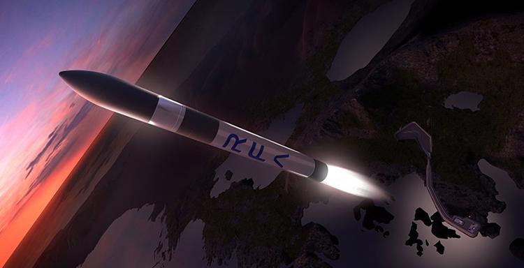 Mô phỏng tên lửa RFA One phóng vệ tinh lên quỹ đạo. Ảnh: RFA/Space News.