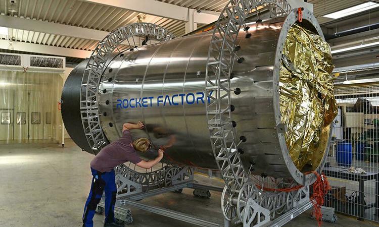 Một phần tên lửa RFA One đang được phát triển bởi công ty Rocket Factory Augsburg. Ảnh: AFP.