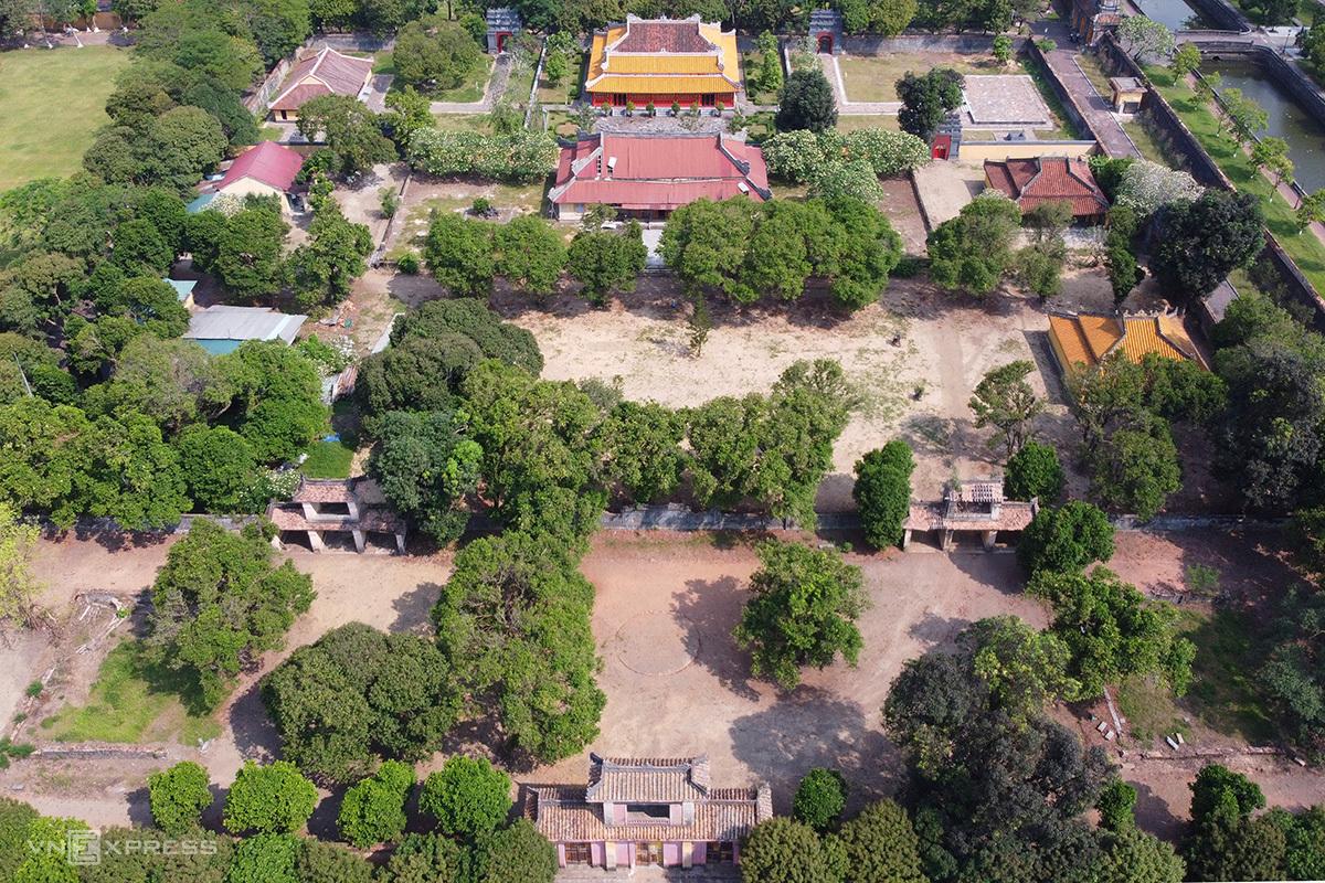 Di tích Thái Tổ miếu nơi thờ 9 chúa triều Nguyễn. Ảnh: Võ Thạnh