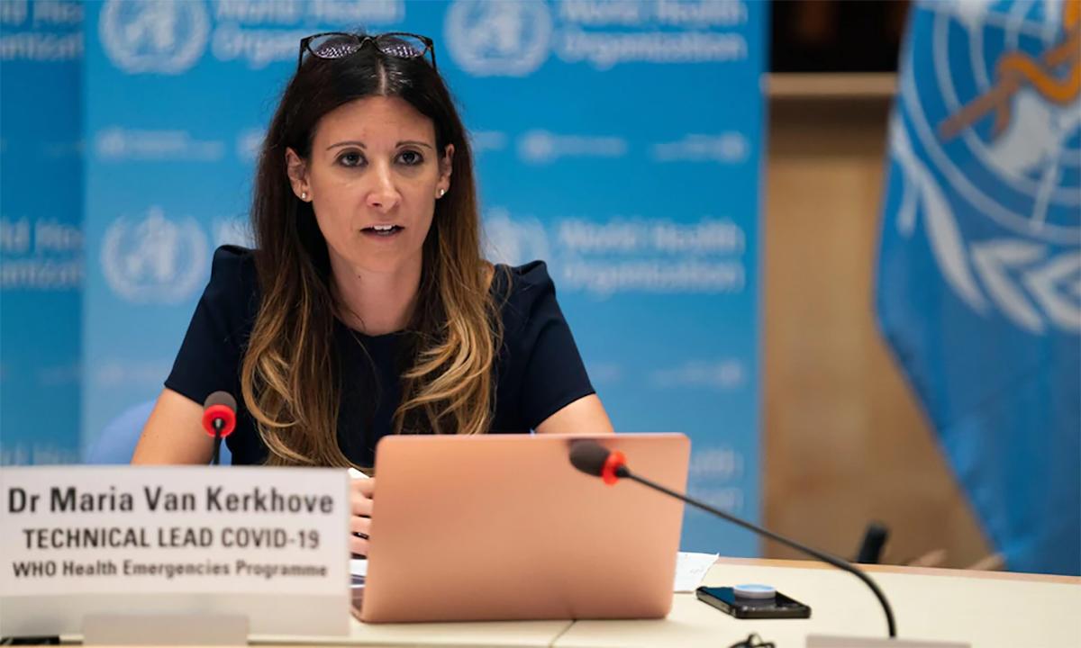 Maria Van Kerkhove trong một cuộc họp của WHO. Ảnh: WHO.