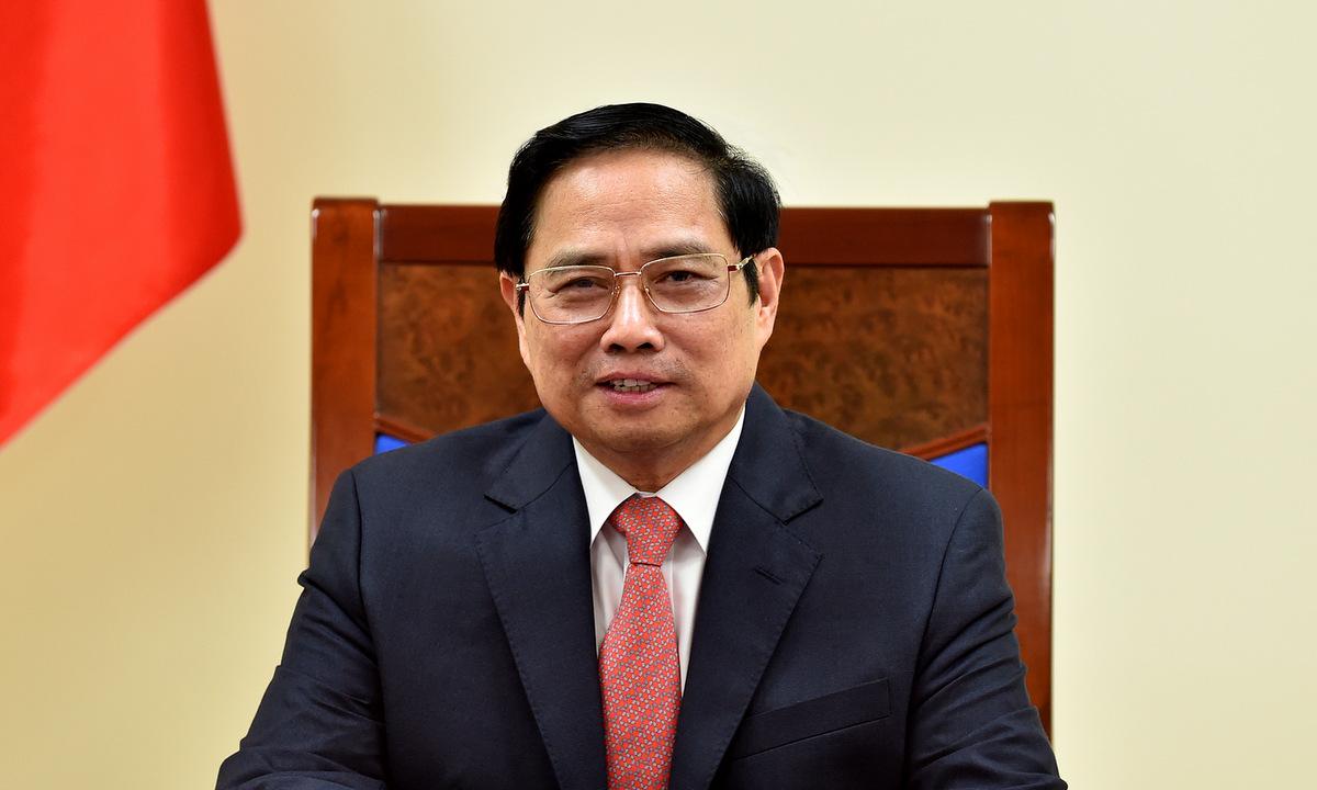 Thủ tướng Phạm Minh Chính trong cuộc điện đàm hôm 9/8. Ảnh: BNG.